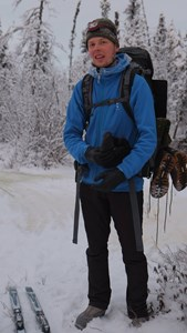On a cross-country ski trip in interior Alaska