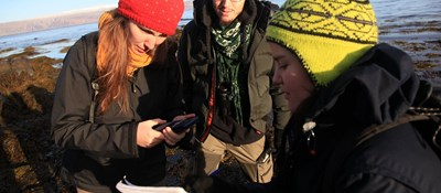 UC Westfjords Students in Field