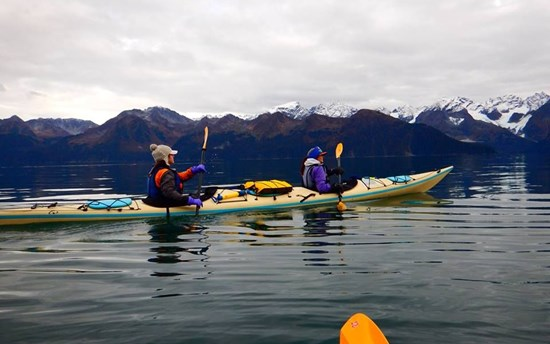 Kayaking at Resurrection Bay