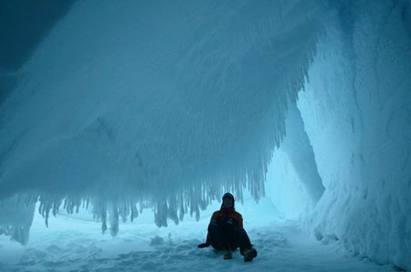 In ice caves near Scott Base, Antarctica